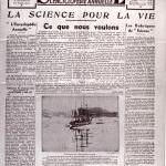 Premier volume du journal science 15 oct.1936